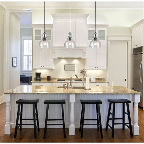 Pendant Lighting For Island Kitchens 1000 Ideas About Industrial Kitchen Island Lighting On Pinterest Glass Pendant Light Kitchen
