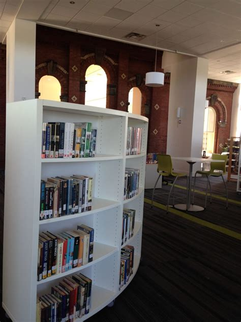 adult section modern library shelving archives bci