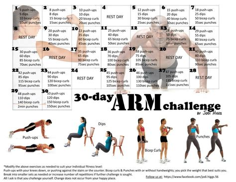 30 day arm exercise challenge 1000 images about fitness challenges on 30
