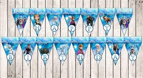 printable happy birthday banner frozen frozen happy birthday banner disney frozen by mydreampartyshop