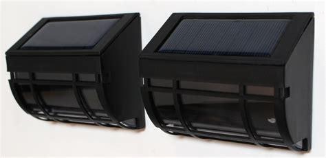 solar wall mount lights two solar wall mount lights