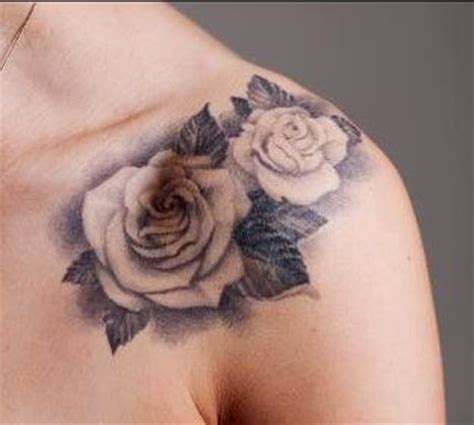 white rose tattoos designs black and white shoulder tattoos for pictures