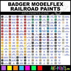 badger modelflex railroad airbrush spray paint colors
