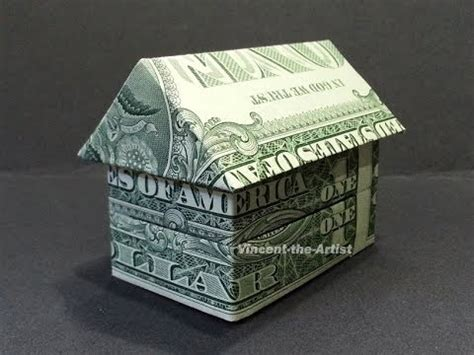 Dollar Bill Origami House - money origami house dollar bill