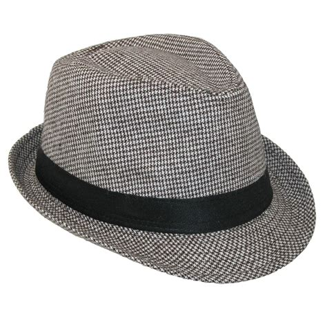 womens houndstooth fedora hat by ctm 174 fedoras s