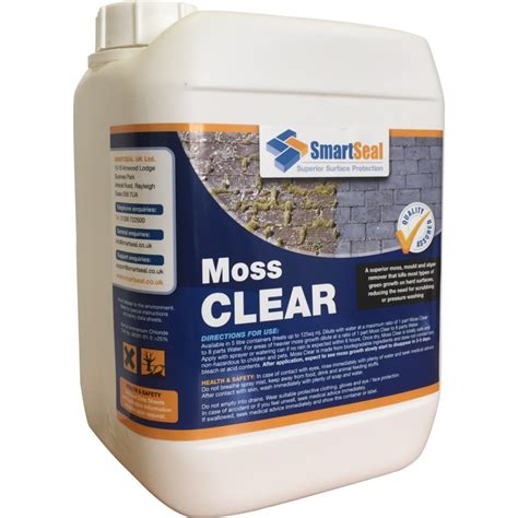 moss remover for driveways patios decking and roofs