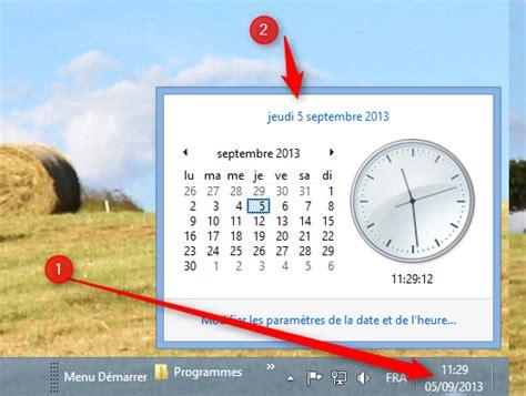 afficher horloge sur bureau windows 7 afficher l horloge sur le bureau 28 images ordinateur