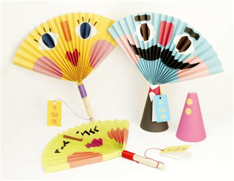 Printable Paper Fans | 7 cool crafts for kids creative gift ideas news at