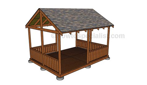 pavillon 2x4 gazebo railing plans howtospecialist how to build