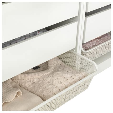 ikea wardrobe baskets komplement metal basket with pull out rail white 100x58 cm