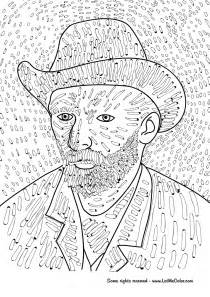 coloring page gogh sunflowers gogh coloring pages 4146 coloring page gogh in
