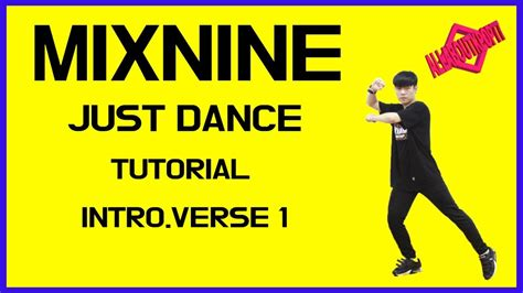 tutorial dance i need u 믹스나인 just dance 안무 배우기 거울모드 느리게 배속 mixnine just dance