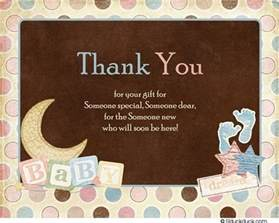 special baby thank you card shower wording polka dots
