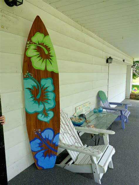surf home decor 6 foot wood hawaiian surfboard wall art decor or headboard