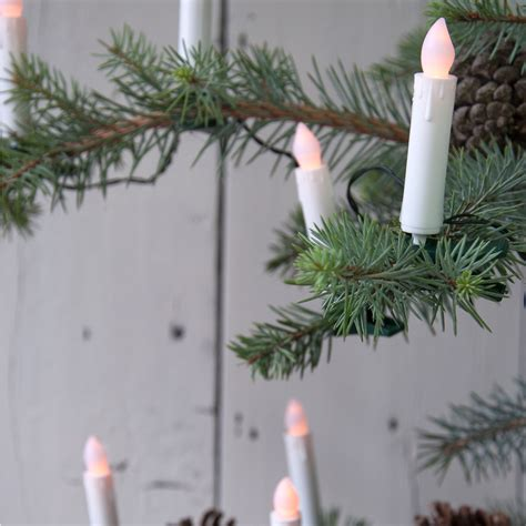 flickering christmas candle led tree lights dotcomgiftshop