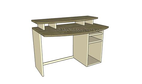 computer desk plans free outdoor plans diy shed
