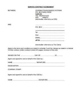 contract template doc doc 585600 service contract in word service contract
