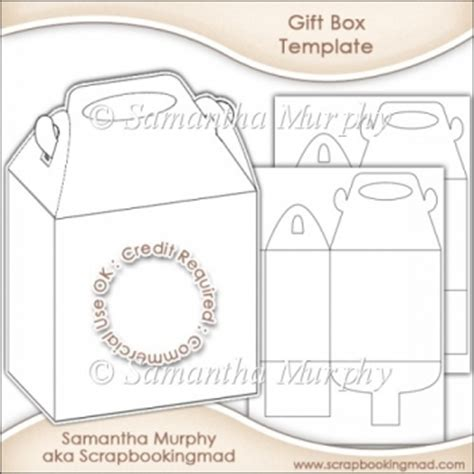 gift card craft template gift box template commercial use ok 163 3 50 instant card