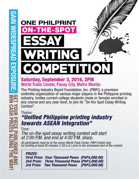 Essay Writing Competition essay writing contest
