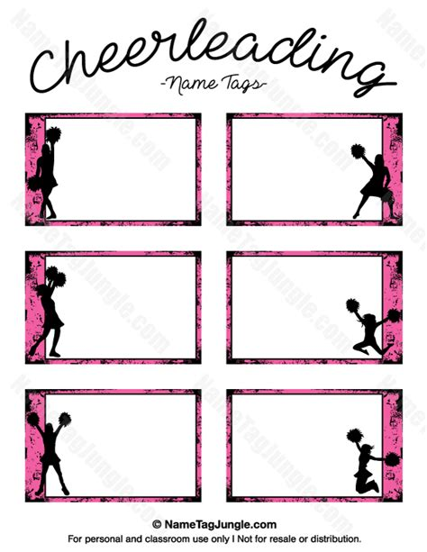 printable name tags with border free printable cheerleading name tags each name tag