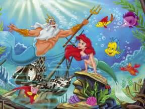 Princess Wall Mural Uk the little mermaid wallpaper the little mermaid