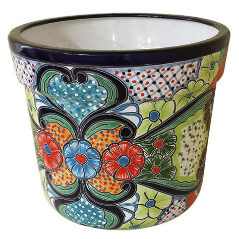 Mexican Planters Large by Talavera Planters Collection Talavera Planter Tctp365