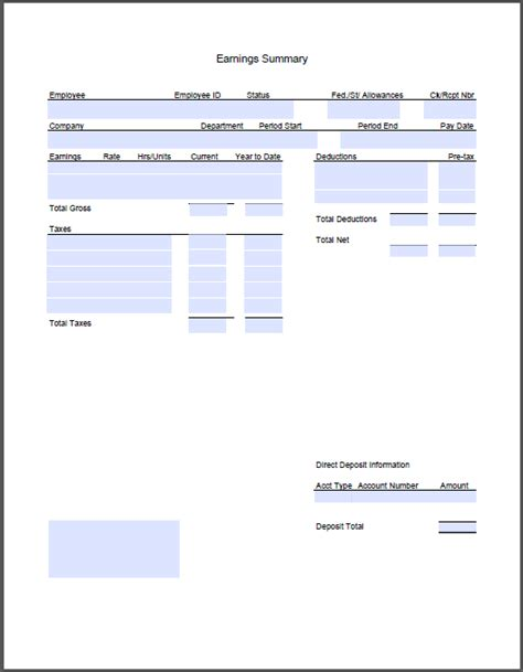 templates for pay stubs pay stub template pdf wordscrawl