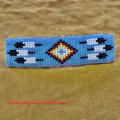 Native American Beaded Barrettes   native american indian style beaded barrette handmade native