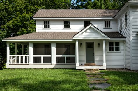 farmhouse porch screen porch ideas porch traditional with brick wall deck