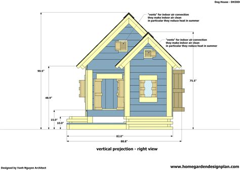 plans for construction of house home garden plans dh300 dog house plans free how to build an insulated dog house