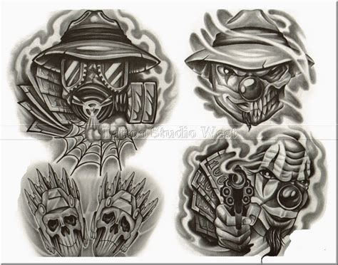 gangster clown tattoo designs pictures to pin on pinterest