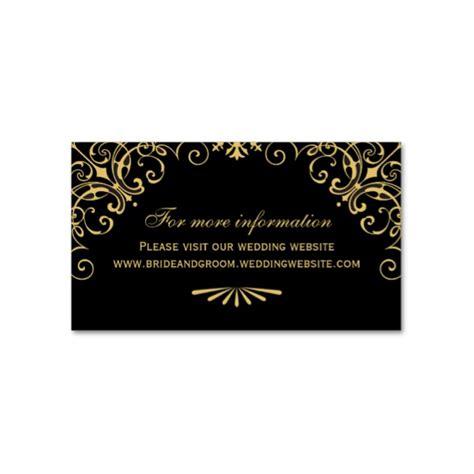 Wedding Card Design Website by Deco Black Gold Wedding Website Cards Luxury