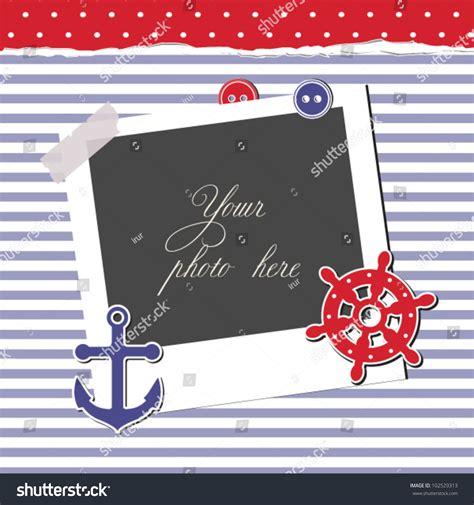 nautical card template nautical card scrapbook template stock vector 102529313