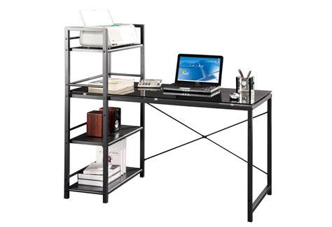 desk with 4 shelf etagere sharper image