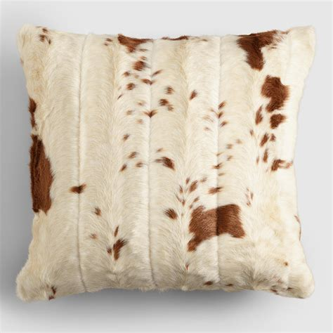 Cowhide Pillow - faux cowhide throw pillow world market