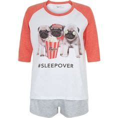 pug pajamas topshop clothing at tesco snoopy watermelon print shorts pyjamas gt nightwear gt new in