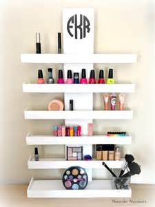 Wall Mounted Makeup Organizer Vanity Wall Mounted Makeup Shelf Makeup Organizer Nail