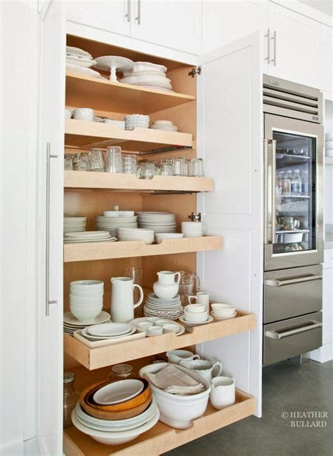 Pull Out Drawers For Kitchen Cabinets Slide Out Kitchen Pantry Drawers Inspiration The Inspired Room