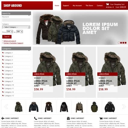 shop around template free website templates in css html