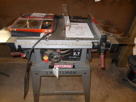 craftsman 137 table saw craftsman table saw with 10 quot blade model 137 248480