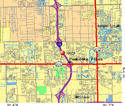 map of pembroke pines florida 33028 zip code pembroke pines florida profile homes