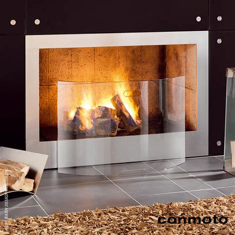 conmoto mentas fireplace screen modern fireplace