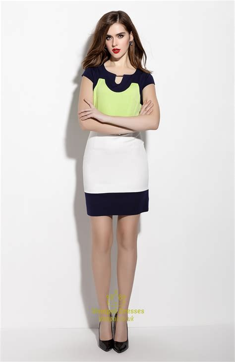 casual summer cap sleeve sheath cocktail dress with belt