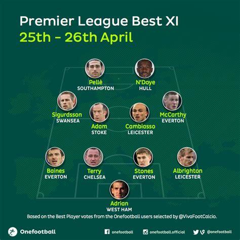 epl xi 2015 premier league best xi 25th 26th april