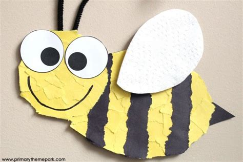 How To Make A Paper Bee - 50 bug crafts for cool kiddy stuff