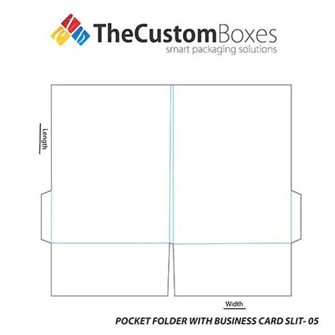 Perfect Folder Business Card With Cmyk And Pms Coloring Business Card Slits Template