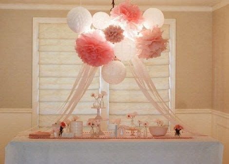 Cluster of paper lanterns   tissue paper pom poms perfect