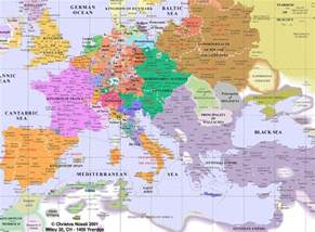 Map Of Europe 1600 by Europe From 400 Ad To 1700 Ad