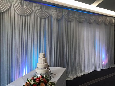 Wedding Backdrop Curtain Hire Ozzy James Parties Events