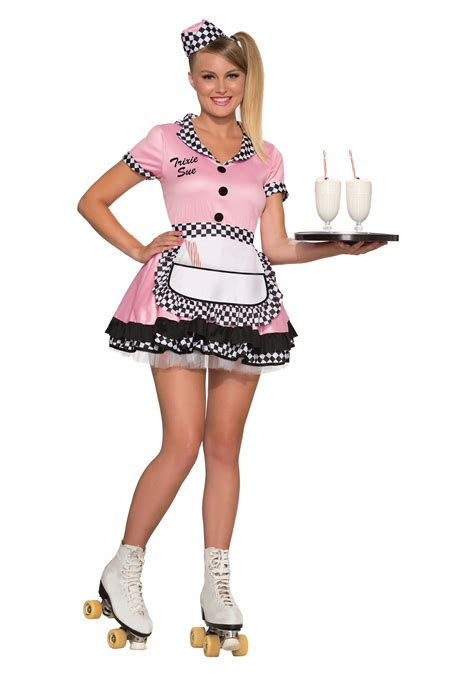 50 girl halloween costumes womens trixie sue carhop costume
